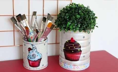 53. Como reutilizar latas de alumínio na decoração. Fonte: Pinterest