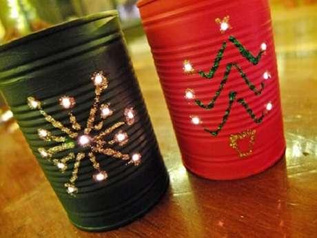 57. Decoração com reciclagem para o Natal. Fonte: Pinterest