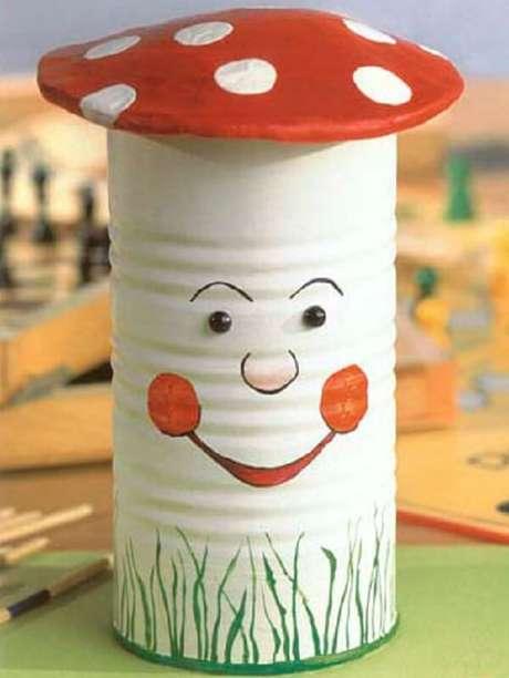8. As latas decoradas com motivos infantis enfeitam o quarto das crianças. Fonte: Pinterest