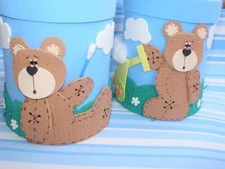 31. Latas decoradas para quarto de bebê. Fonte: Pinterest
