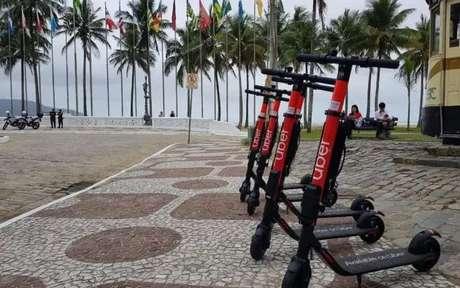 Ubber oferece serviço de patinetes elétricos na cidade de Santos