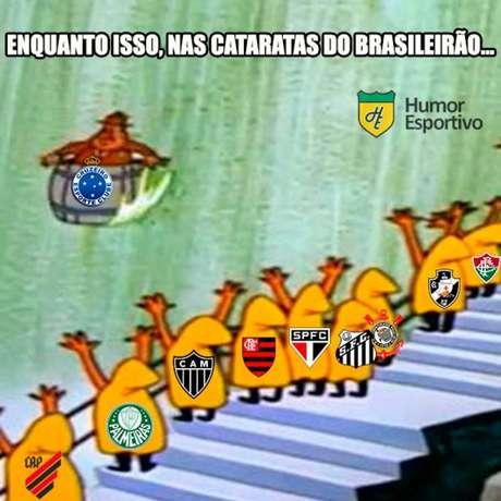 """Rivais fazem """"força"""" para ver a Raposa jogando a Série B em 2020- (Cruzeiro - Meme)"""