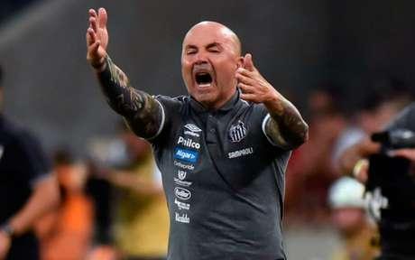 Jorge Sampaoli chamou de 'filme' os boatos envolvendo seu futuro à frente do Santos - Foto: Ivan Storti/Santos FC
