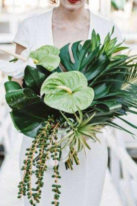 10. O antúrio pode ser uma linda planta para buquê. Foto: Noiva Ansiosa