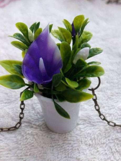 5. O mini antúrio é um lindo elemento decorativo. Foto: Elo7