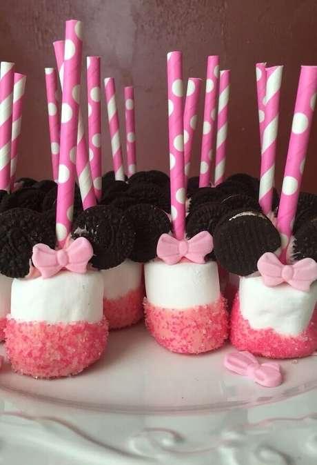 18 – Aposte em Marshmallow na festa da Minnie. Fonte: Pinterest