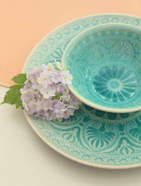 77. O azul Tiffany na louça é muito delicado. Foto: Flickr