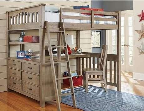 1. A beliche com escrivaninha embaixo pode ser utilizada em quartos de hospedes.