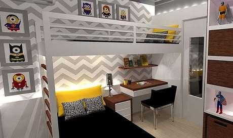59. Beliche com escrivaninha e iluminação especial. Fonte: Pinterest