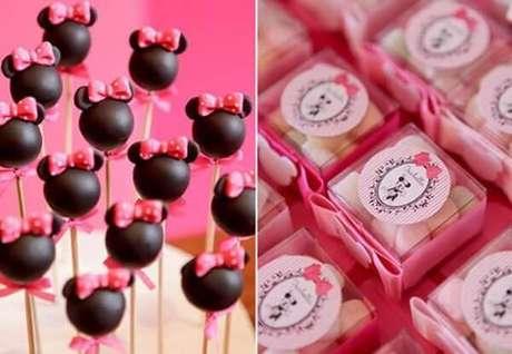 58 – Cakepop e balinhas sortidas para festa da Minnie. Fonte: Bebê Abril