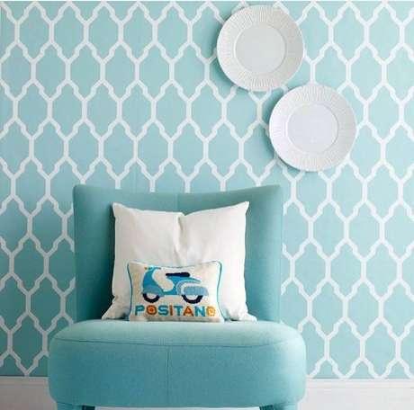 72. O azul Tiffany combina muio com quartos infantis. Foto: Skonahem
