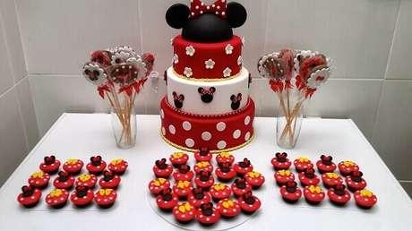 84 – Decoração intimista para festa da Minnie. Fonte: Blog Arte Festejar Adocar
