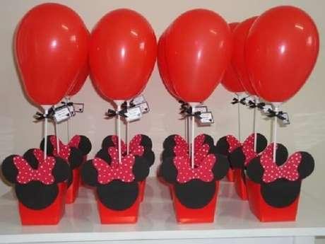 64 – Decoração simples para festa da Minnie. Fonte: Pinterest