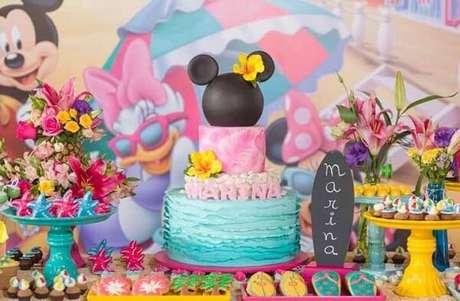116 – Festa da Minnie com temática tropical. Fonte: Pinterest