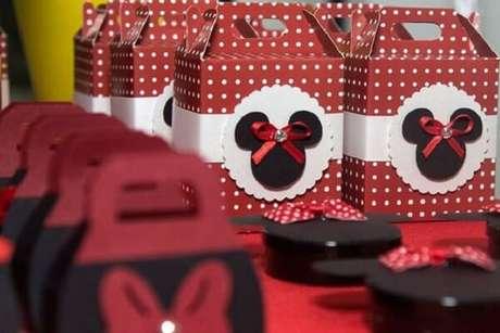 4 – Lembrancinhas para festa infantil da Minnie. Fonte: Umbrella Amarela