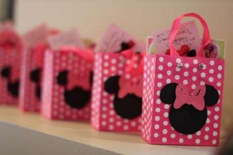 7 – Lembrancinhas para festa da Minnie rosa. Fonte: Decoração e Festa