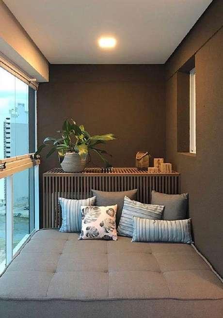 60. Móveis para varanda pequena – Foto: FirePont
