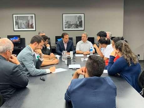 O governador João Doria recebeu familiares de vítimas da tragédia em Paraisópolis