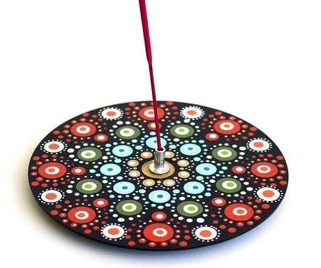 45. Crie um lindo porta incenso por meio do artesanato com CD. Fonte: Elo7