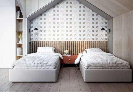 55. Instale o piso laminado flutuante na quarto das crianças para aquecer os pequenos. Fonte: Pinterest