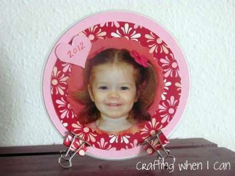 3. Modelo de porta retrato de CD. Fonte: Pinterest