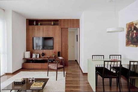 28. O piso flutuante pode ser utilizado em ambientes integrados. Fonte: Pinterest