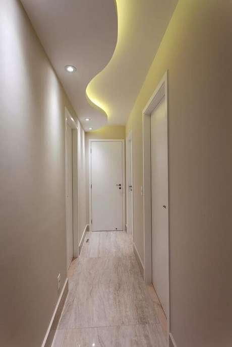 43. Rebaixamento de gesso para o corredor. Via: Homify