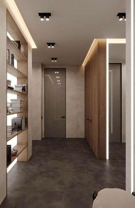 64. Rebaixamento de gesso para casa moderna, estilo industrial. Via: Pinterest