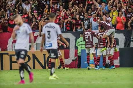 No primeiro turno, vitória do Flamengo por 1 a 0, no Maracanã (Foto: Maga Jr/O Fotográfico/Lancepress!)