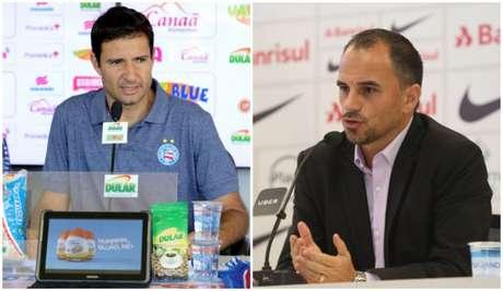Diego Cerri é o favorito a assumir o Palmeiras; Caetano fica no Inter (Foto: montagem em fotos de divulgação)