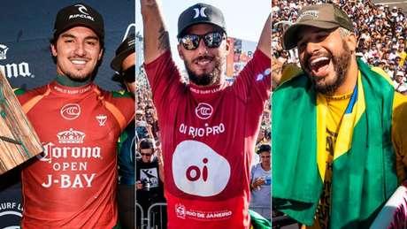 Medina, Filipe Toledo e Ítalo Ferreira são favoritos (Foto: Divulgação/WSL)