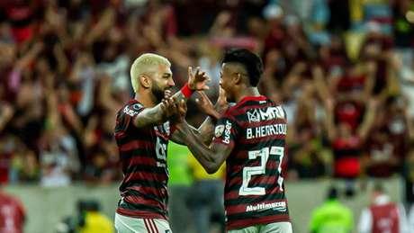 Gabigol e Bruno Henrique somam 46 gols no Brasileiro (Foto: Marcelo Cortes / Flamengo)