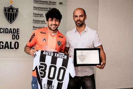Luan chegou aos 300 jogos pelo Galo, porém pode não ficar no clube em 2020-(Divulgação/Atlético-MG)