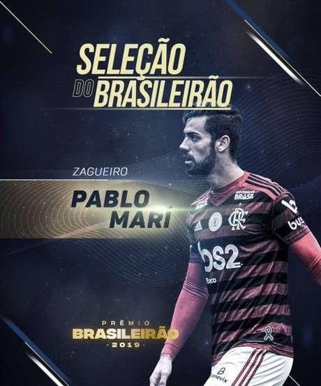 Pablo Marí esteve na seleção do Brasileirão de 2019