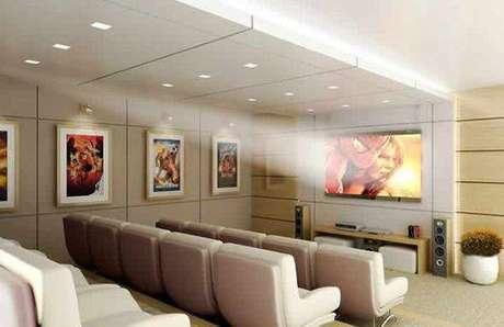 21. Você pode se jogar de cabeça no projeto do cinema em casa. Fonte: Pinterest