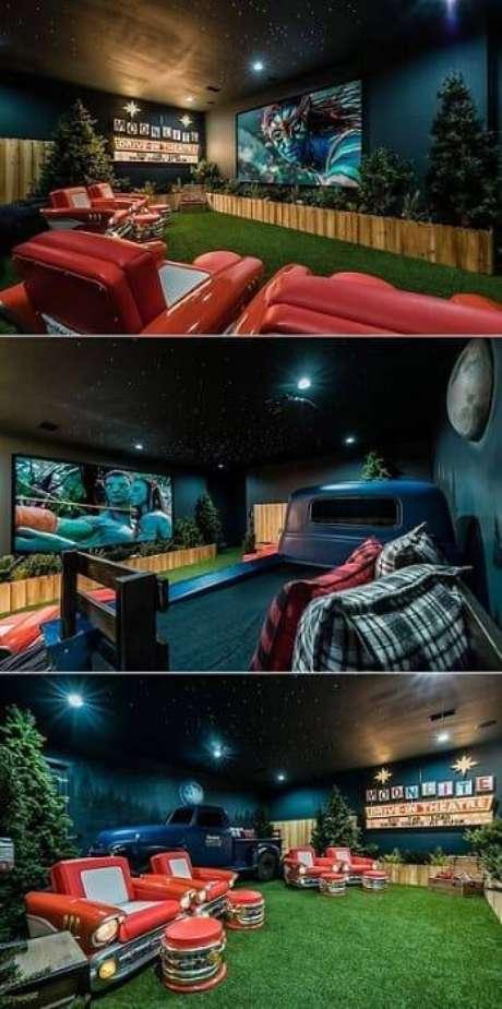 45. Cinema em casa no estilo drive in. Fonte: Pinterest