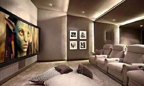 75. Poltronas confortáveis para a sala de cinema. Fonte: Pinterest