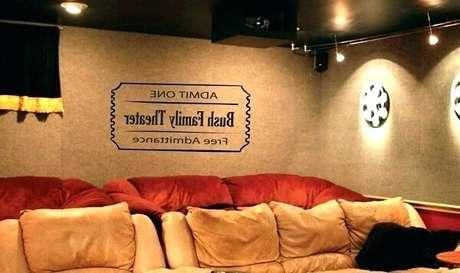 20. Decore de forma especial o cinema em casa. Fonte: Pinterest