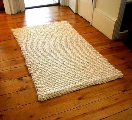 39. Tapete de crochê para cozinha alto de algodão cru. Foto de Pinterest