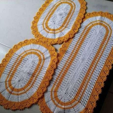 96. Mais lindos exemplos de tapete de crochê para cozinha oval. Foto: Tua Casa