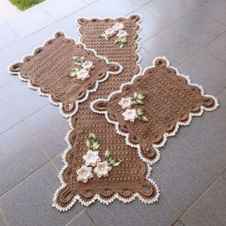 97. O tapete de crochê para cozinha é chamativo quando possui os elementos certos. Foto: Americanas