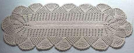 66. O tapete de crochê para cozinha pode ser simples e chamar a atenção. Foto: Pinterest