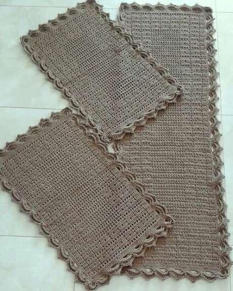 68. O tapete de crochê para cozinha pode ser simples. Foto: Tua Casa