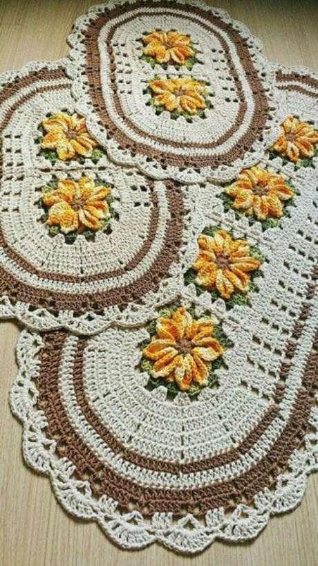 92. Um bom tapete de crochê para cozinha é delicado. Foto: Tudo Especial