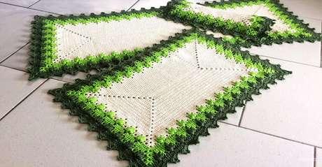 93. Os padrões do tapete de crochê para cozinha pode ser diferente. Foto: Ana Maria Armarinhos