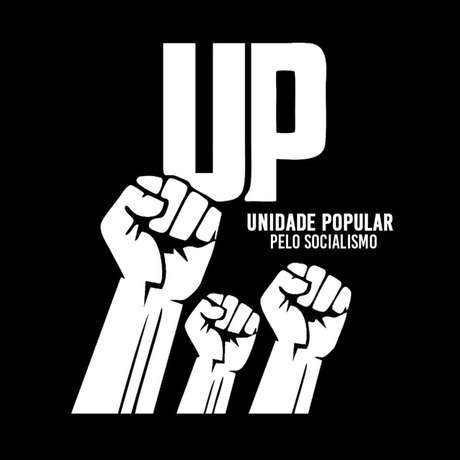 Símbolo do partido recém-criado no Brasil. Nome completo do grupo é 'Unidade Popular pelo Socialismo'