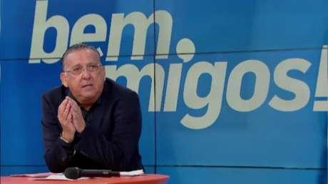 """Galvão fez uma análise do time do Liverpool durante o programa """"Bem, Amigos"""" (Foto: Reprodução/Sportv)"""