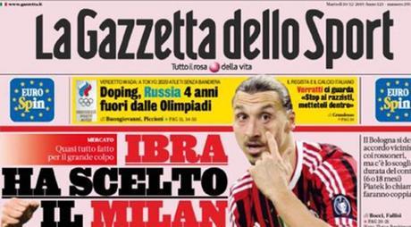 Ibrahimovic escolheu o Milan (Foto: Reprodução)