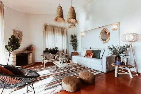 1. Não é preciso fazer um grande investimento para mudar o visual da sua sala de estar – Foto: Habitissimo