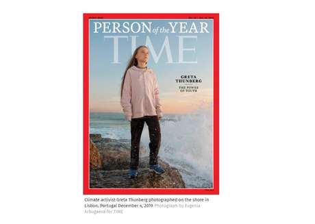 Greta Thunberg foi eleita personalidade do ano pela revista 'Time'